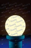 Lampada led sfera opale E27 0,5W 230V 2750k 6 SMD LED