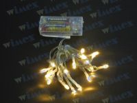 BatteryLED - milleluci natalizie 20 LED bianco a batteria per interno