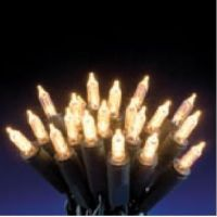 LED - catenaria a pisello 50 led bianco caldo 5 mt