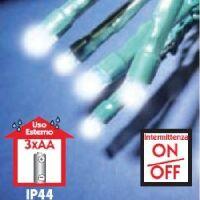 BatteryLED - milleluci natalizie ad intermittenza 100 LED bianco a batteria