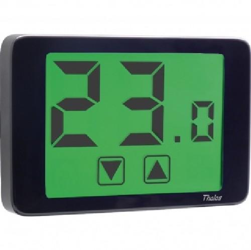 Vemer ve435400 termostato digitale da parete nero thalos 230 for Termostato ambiente vemer