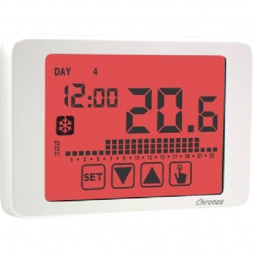 Vemer ve453700 cronotermostato da parete bianco chronos 230 for Termostato ambiente vemer