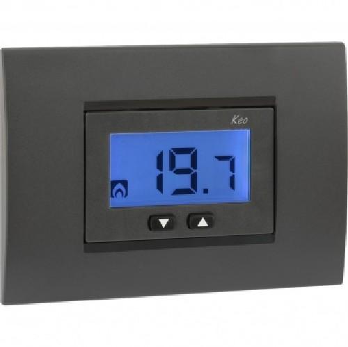 Vemer ve558300 termostato da incasso nero keo a lcd for Termostato vemer istruzioni