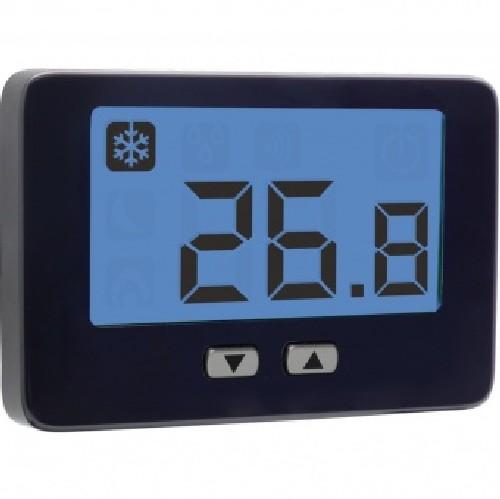 Vemer ve719100 termostato ambiente da parete nero thalos key for Termostato ambiente vemer