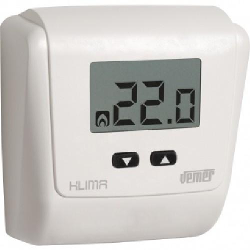 vemer ve730800 termostato ambiente da parete klima lcd 230
