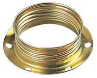 Anello E14 metallo fermaparalume zincato giallo