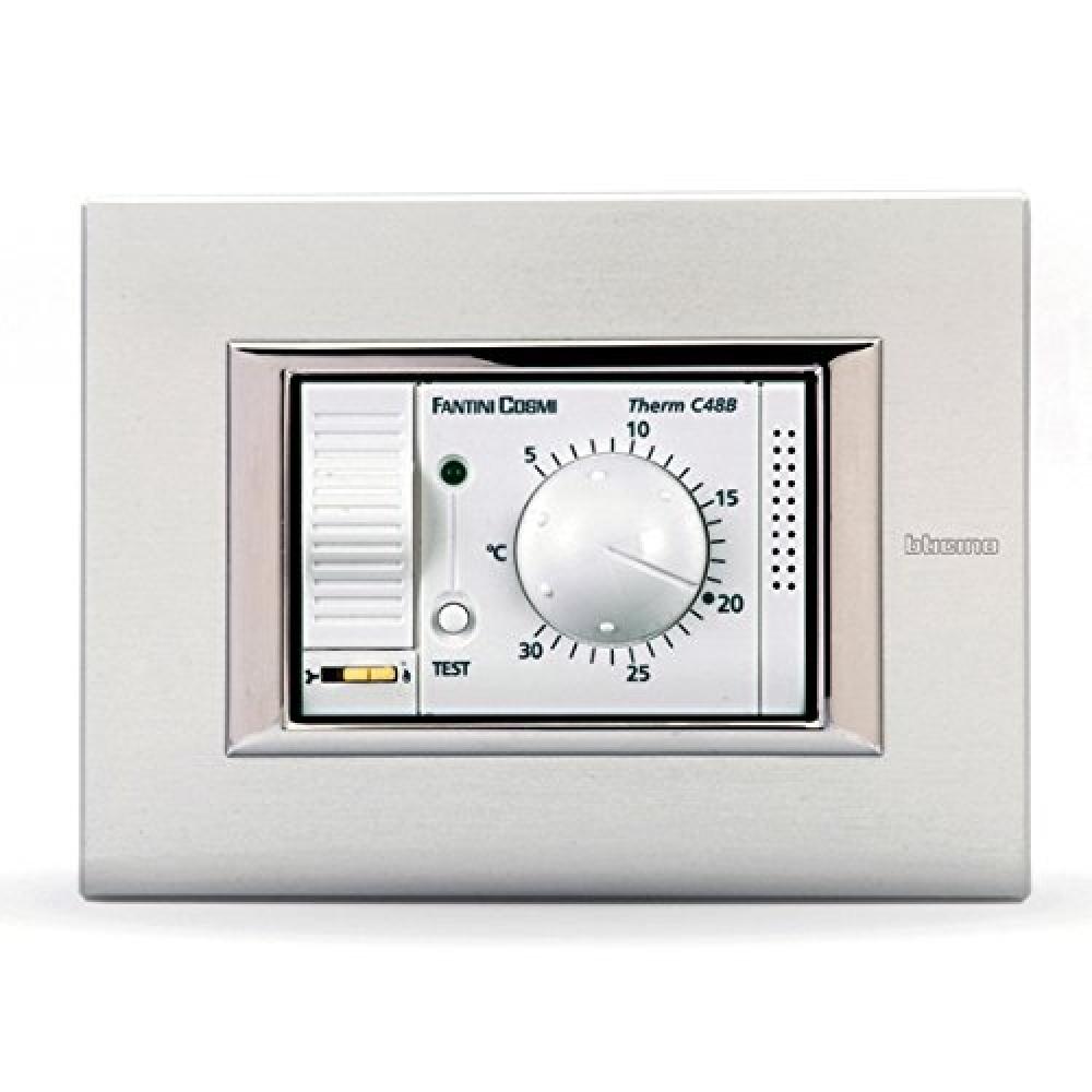 Fantini cosmi c48b termostato ambiente da incasso bianco c48 for Termostato vemer istruzioni