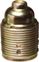 Portalampada E27 metallo filettato zincato giallo