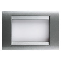 Playbus - placca in tecnopolimero 3 posti titanio metallizzato