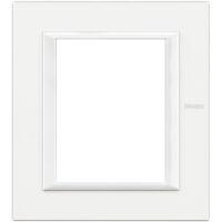 Axolute - placca rettangolare Bianchi 3 + 3 posti bianco axolute
