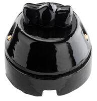 Noir - pulsante in pietra lavica lucida