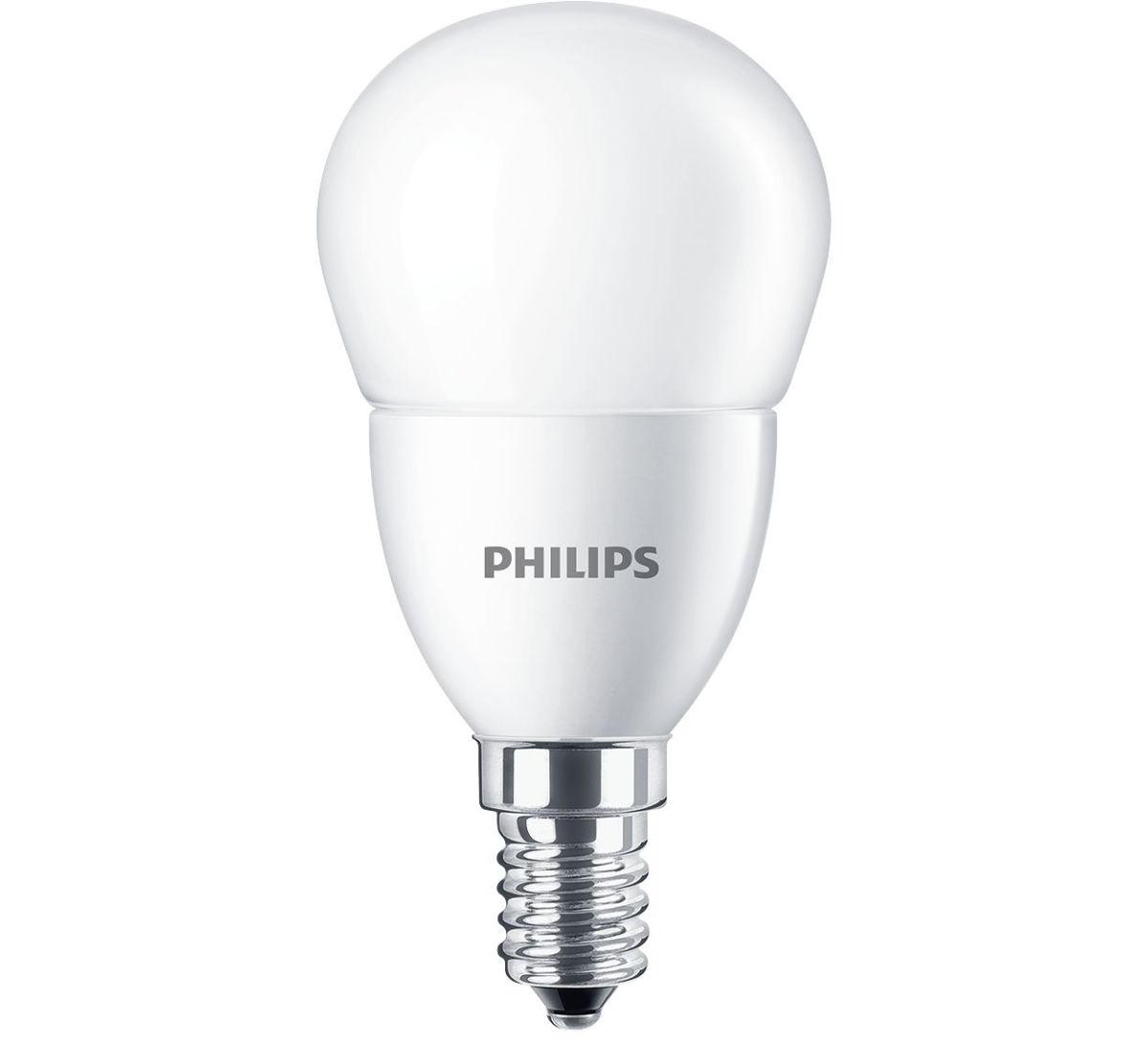 Philips corelus60840e14 lampada led sfera opale e14 7w for Lampada led e14