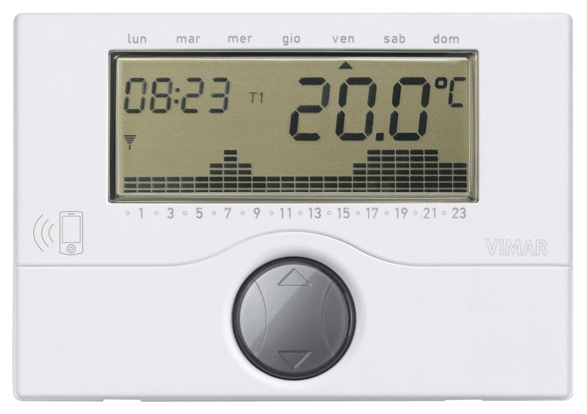 Vimar 01913 cronotermostato gsm bianco for Termostato vemer istruzioni