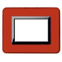 Serie 44 - placca Personal 44 in plastica 3 posti rosso pompei lucido