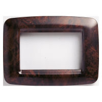 PLAYBUS YOUNG 3 GANG ENGL.WALNUT PLATE