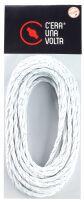 Cavo a treccia in cotone bianco 3G1.5 - 10mt