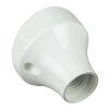 Portalampada da parete in plastica base curva bianco