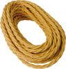 Cavo a treccia in cotone oro 3G1.50 - 25mt