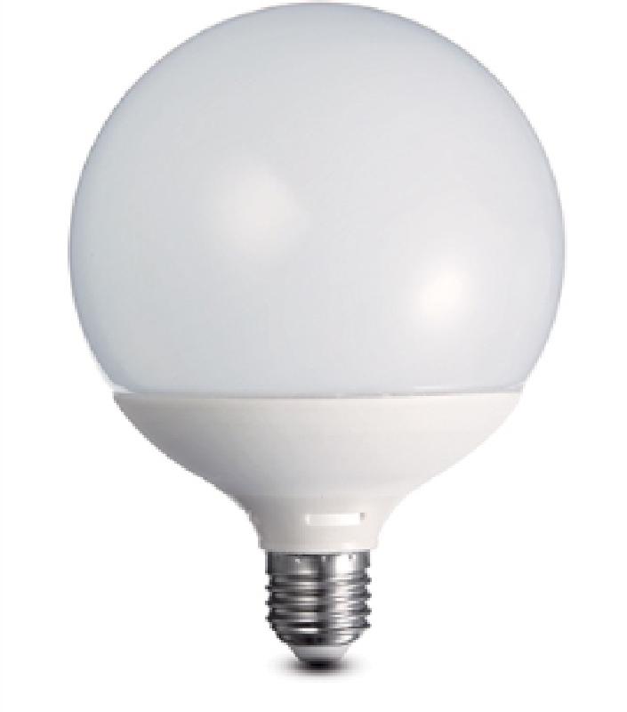 Duralamp dg457w lampada led globo opale 120 e27 14w 230v for Lampada globo