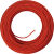 Red silk round cable 3G0,75