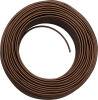 Cavo H03 3G0.75 rivestito in seta marrone - 010mt